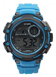 Lee Cooper Men's Originals Digital Dial Blue Rubber Watch ORG05607.629