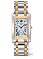Longines Women's DolceVita Silver Dial Yellow Gold Stainless Steel Watch L5.655.5.70.7