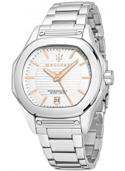 Maserati Men's Stainless Steel Silver Dial Watch R8853116004