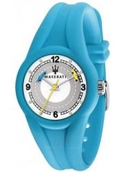 Maserati Children's Campione White Dial Light Blue Rubber Watch R8851135007