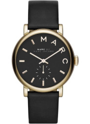 Marc by Marc Jacobs Women's Baker Black Dial Black Leather Watch MBM1273