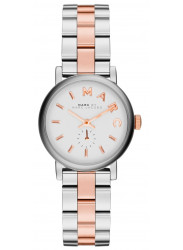 Marc by Marc Jacobs Women's Baker White Dial Two Tone Stainless Steel Watch MBM3331