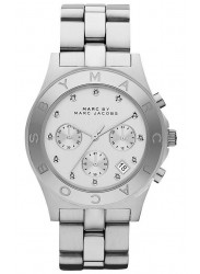 Marc by Marc Jacobs Women's Blade Chronograph White Dial Stainless Steel Watch MBM3100
