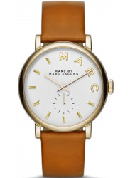 Marc by Marc Jacobs Women's Baker White Dial Tan Leather Watch MBM1316