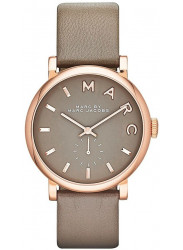 Marc by Marc Jacobs Women's Baker Grey Dial Grey Leather Watch MBM1266