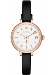Marc by Marc Jacobs Women's Sally White Dial Black Leather Watch MBM1352