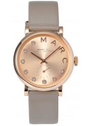 Marc by Marc Jacobs Women's Baker Rose Gold Dial Grey Leather Watch MBM1400