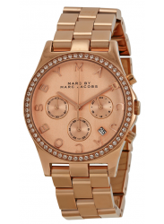 Marc Jacobs Women's Henry Chronograph Rose Gold-tone Dial Watch MBM3118