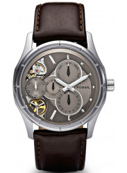 Fossil Men's Twist Brown Dial Brown Leather Watch ME1020