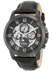 Fossil Men's ME3028 Grant Automatic Self-Wind Leather Watch, Black