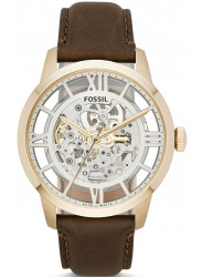 Fossil Men's Townsman Automatic Brown Leather Watch ME3043