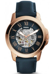 Fossil Men's Grant Automatic Navy Skeleton Dial Watch ME3102