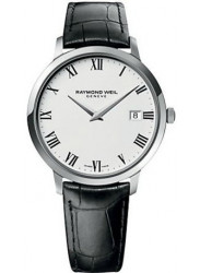 Raymond Weil Men's Toccata White Dial Black Leather Watch 5588-STC-00300