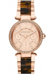 Michael Kors Women's Mini Parker Rose Dial Crystals Bezel Watch MK5841