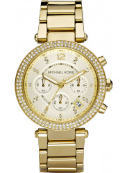 Michael Kors Women's Parker Chronograph Gold Tone Watch MK5354