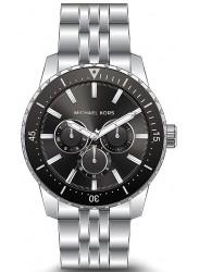 Michael Kors Men's Cunningham Chronograph Black Dial Stainless Steel Watch MK7156