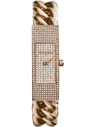 Michael Kors Women's Hayden Crystal Pave Dial Rose Gold Tone Watch MK3307