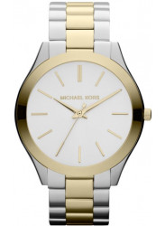 Michael Kors Women's Slim Runway Silver Dial Two-Tone Watch MK3198