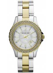 Michael Kors Women's Madison White Dial Crystal Two-tone Watch MK5584