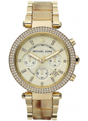 Michael Kors Women's Parker Chronograph Gold Tone Watch MK5632