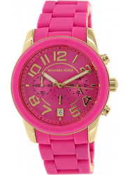 Michael Kors Women's Mercer Pink Dial Silicone Watch MK5890
