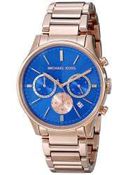 Michael Kors MK5911 Chronograph Blue Dial Rose Gold-tone Mens Watch