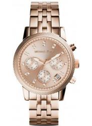 Michael Kors Women's Ritz Chronograph Rose Dial Watch MK6077