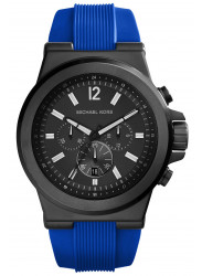 Michael Kors Men's Dylan Chronograph Blue Silicone Watch MK8357