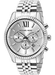 Michael Kors Men's Lexington Chronograph Silver Dial Watch MK8405