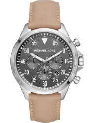 MIchael Kors Gage Men's Chronograph Black Dial Brown Leather Watch MK8616