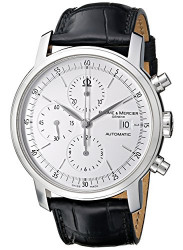 Baume & Mercier Men's Classima Automatic Chronograph Black Leather Watch MOA8591