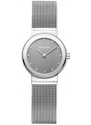 Bering Women's Grey Dial Stainless steel Mesh Watch 10126‐309