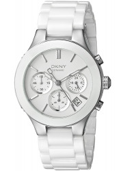 DKNY Women's Chronograph GMT White Dial Watch NY4912