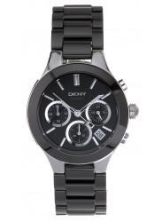 DKNY Women's Chronograph Black Dial Ceramic Watch NY4914