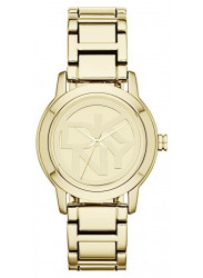 DKNY Women's Tompkins Gold Dial Gold-Plated Watch NY8876