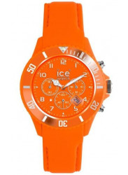 Ice Watch Men's Chronograph Orange Dial Leather Watch CH.FO.B.L.11