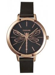 OUI&ME Women's Amourette Black Dial Black Stainless Steel Watch ME010070