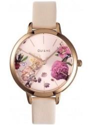 OUI&ME Women's Fleurette Rose Gold Dial Beige Leather Watch ME010076
