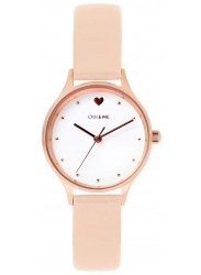 OUI&ME Women's Minette White Dial Pink Leather Watch ME010167