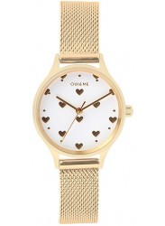 OUI&ME Women's Minette White Dial Gold Mesh Stainless Steel Watch ME010171