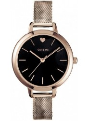 OUI&ME Women's Petite Amourette Black Dial Rose Gold Stainless Steel Watch ME010002