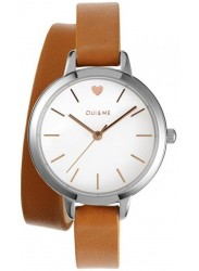 OUI&ME Women's Petite Amourette White Dial Brown Leather Watch ME010005