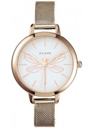OUI&ME Women's Petite Amourette White Dial Rose Gold Stainless Steel Watch ME010046