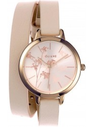 OUI&ME Women's Petite Amourette Rose Dial Beige Leather Watch ME010049