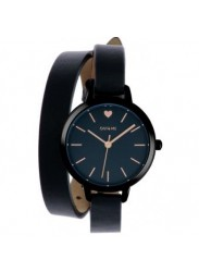 OUI&ME Women's Petite Amourette Black Dial Black Leather Watch ME010050