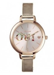 OUI&ME Women's Petite Fleurette Rose Gold Dial Rose Gold Stainless Steel Watch ME010044