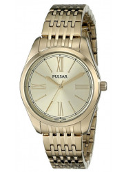 Pulsar Women's Gold Dial Gold Tone Watch PG2010