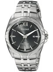 Pulsar Men's Dark Grey Dial Silver Tone Watch PH9083