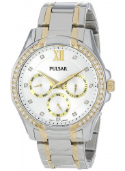 Pulsar Women's Silver Dial Two Tone Watch PP6100