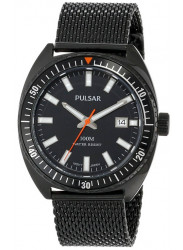Pulsar Men's Black Dial Black Stainless Steel Mesh Watch PS9231